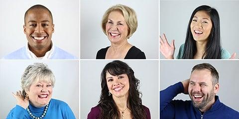 Collage of actual patients of Simpsonville Dental Associates